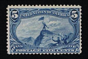 GENUINE SCOTT #288 FINE MINT OG NH 5¢ DULL BLUE TRANS-MISS EXPO ISSUE - SCV $250