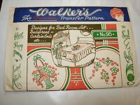 WALKERS NO 95 DESIGNS FOR BEDROOM SET CURTAINS Hot Iron On Transfers pattern
