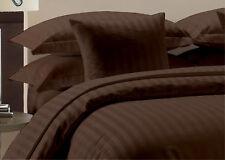 Chocolate Striped Extra Deep Pkt Sheet set 1000 TC Egyptian Cotton