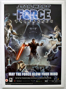 Star Wars The Force Unleashed RARE PS2 PS3 Wii 42cm x 59cm Promotional Poster