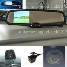 "Auto dimming rearview mirror+3.5""reversing display+camera,fit Peugeot,Dodge,Ford"