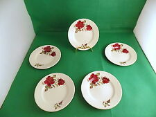 Lord Nelson Potery Red Roses Tea Plates x 5