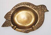 Brass Bird Ashtray Partridge Quail Pigeon Grouse Ren