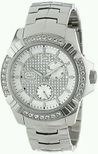 NEW Mens Marc Ecko UNLTD The Carter Watch Stainless Steel Diamond E16545G1 $165