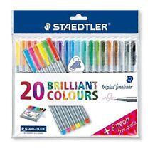 Staedtler Triplus Fineliners Brilliant Colours (20 + 6 Neon Colors)(334 SSB20P2)