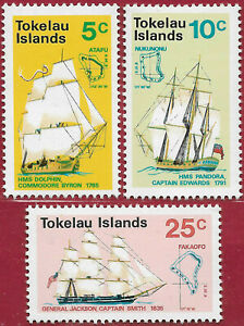 Tokelau 1971 Set [3] Discovering the Islands sg 22-4 MNH up to 30% of multi-buy