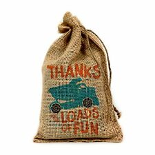 """Thanks for the Loads of Fun, 6"""" X 10"""" Burlap Party Favor Bag - Set of 10"""