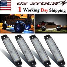 4X White Led Side Marker Light Truck Trailer 12V Indicators Clearance Lights