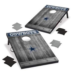 Wild Sports 2 x 3 Foot NFL Dallas Cowboys Cornhole Outdoor Bag Toss Game Set