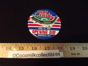 Vintage April 14 1988 Buffalo Bisons Pilot Field Opening Day Pin Button Baseball