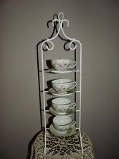 Cup Saucer Display Stand Holder Rack 4 Tier