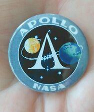 38mm pin badge depicting. 'NASA Apollo program' patch