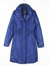 CREENSTONE (Sz 36) UK 10 Blue Padded Quilted Jacket Coat Women Knee Length