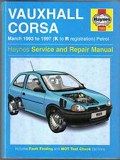 Vauxhall Opel Corsa Petrol models Mar 1993 - 1997 Haynes Service & Repair Manual