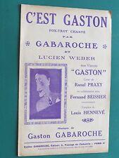 """Partition Piano """"C'est Gaston"""" G. GABAROCHE L. HENNEVÉ"""