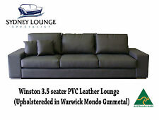 Australian Made Winston 3.5 seater PVC Leather Lounge Sofa Couch