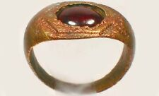 AD300 Roman Pannonia (Hungary) Ring Size 6½ Antique 19thC 1¼ct Norwegian Garnet