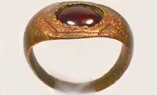 AD300 Roman Pannonia (Hungary) Ring Size 6½ Antique 19thC 1¼ct Norwegian Garnet