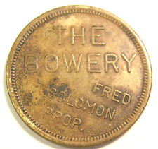 OLD BOWERY SPECIAL FEED TOKEN FRED COLOMON PROP.1/2 DOLLAR SIZE SCARCE LOOK
