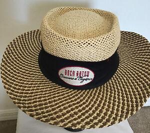 Boca Raton Ahead Fine Hats Adult Unisex Golf 100% Paper Straw Hat M/L New W/tags