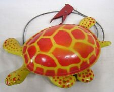 Vintage Metal Toy Walking Turtle Mobo Toy-Toise Red Yellow Made in England