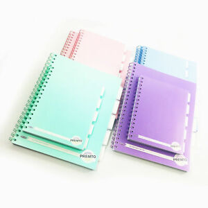Project Book 5 Subject Dividers A4 / A5 Notebook School Jotter Writing Pad