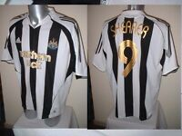 Newcastle United SHEARER Shirt Adidas Jersey Adult L Football Soccer England