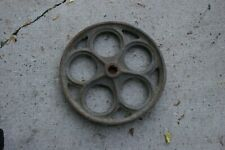 Antique Cast Iron Factory or Railroad Cart Wheel