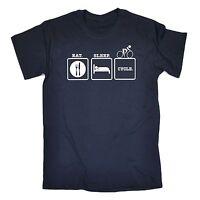 Eat Sleep Cycle T-SHIRT Bike Cycling Bicycle Fitness Funny birthday fashion gift