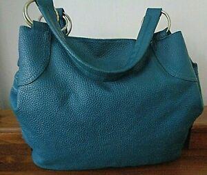 ALDO large teal green tote/shoulder bag