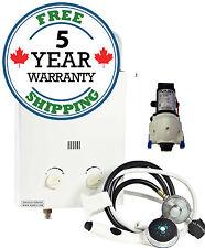 Marey 5L Portable Tankless Water Heater Shower Kit + Flojet Pump Kit L5