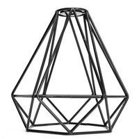 Retro Metal Diamond Loft Pendant Ceiling Fixture Light Lamp Bulb Cage Black