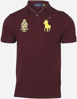 Polo Ralph Lauren Men Custom Slim-Fit Crest Logo Big Pony Shirt Red Wine 2XL
