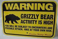 """Warning Bear Traps Montana Vintage Rustic Retro LARGE Metal Sign 12/"""" x 18/"""""""