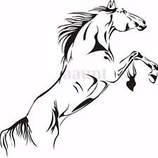 Black Running Horse Wall Sticker Removable Vinyl Decal Art Mural Home Decor US