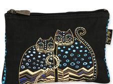 LAUREL BURCH - FELINE MINIS COSMETIC BAG - POLKA DOT CATS GATOS- NWT!