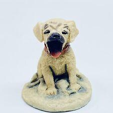 Labrador Dog Figurine Golden Retriever Yawning Sculpture Made In England