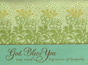 God Bless You For Your Expression of Sympathy - Garden - By Hallmark - Set of 16