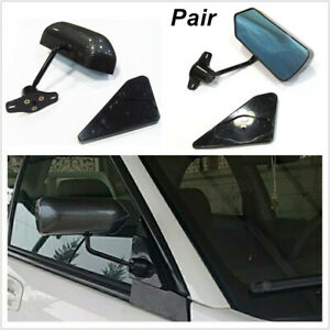 Car Trucks SUV F1 Style Carbon Fiber Look Side Mirrors + Screws Cafe Racer Retro