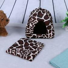 Cute Strawberry Pet Kennel Washable Dual-Purpose Soft Dog House(Brown/S)
