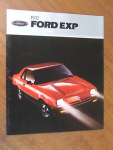 1982 Ford EXP original US 20 page brochure