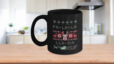 Llama Ugly Christmas Sweater Coffee Mug Gift for Llama Alpaca Lover