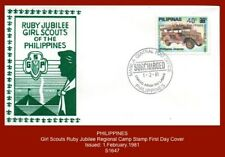 """PHILIPPINES 1981 - """"Girl Guide Regional Camp"""" - Stamp on First Day Cover"""