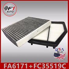 FA6171 FC35519C(CARBON) PREMIUM ENGINE & CABIN AIR FILTER for 2012-15 CIVIC 1.8L