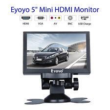 5 Inch Colour Video HDMI VGA BNC Car Rear View Monitor 800x480 For CCTV Camera
