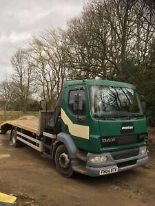 DAF 55 Beavertail crane truck No VAT