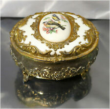 Ornate Gold Gilded Jewellery Trinket Box, Victorian Design, Made in Japan