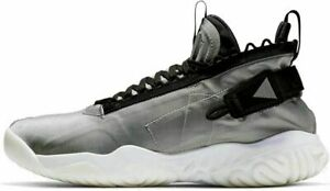 Nike Jordan Proto-React Shoes Mens 17 Metallic Silver/Black BV1654 002 Msrp $150
