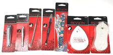 (7) Revlon Variety Nail Kit Pumice Stone Shiner Stainless Steel Tweezers Groomer