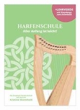 Tolle Einsteiger-Schule für Harfe mit Liedern und Übungen + Videos als Download